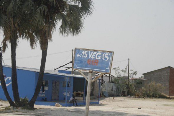 Las Vegas Bar. Bar / Shebeen on the C46 Highway between Ruacana and Oshakati, Namibia.