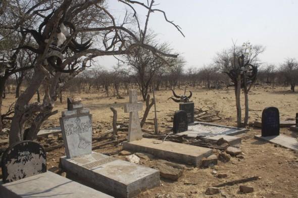 Himba burial site. Kaokoland, Namibia.