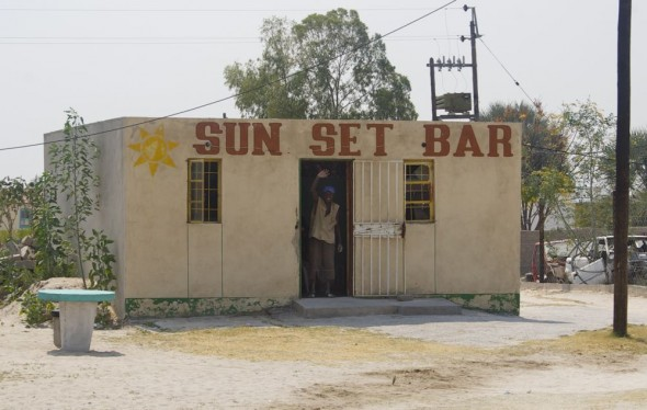 Sun Set Bar. Bar / Shebeen on the C46 Highway between Ruacana and Oshakati, Namibia.