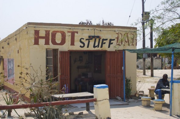 Hot Stuff Bar. Bar / Shebeen on the C46 Highway between Ruacana and Oshakati, Namibia.