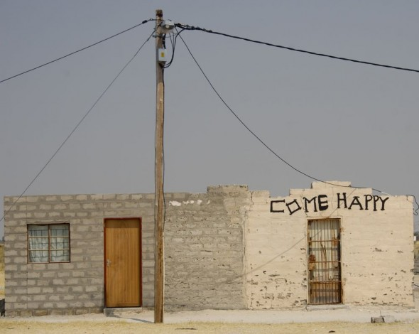 Come Happy. Bar / Shebeen on the C46 Highway between Ruacana and Oshakati, Namibia.