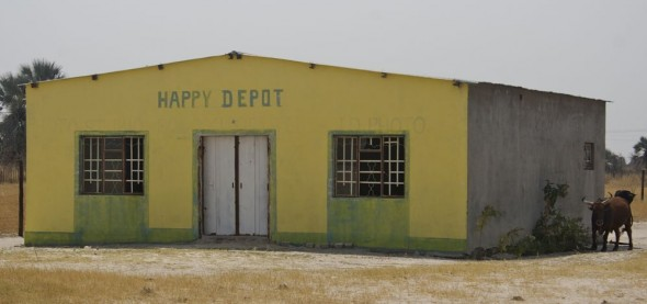 Happy Depot. Bar / Shebeen on the C46 Highway between Ruacana and Oshakati, Namibia.