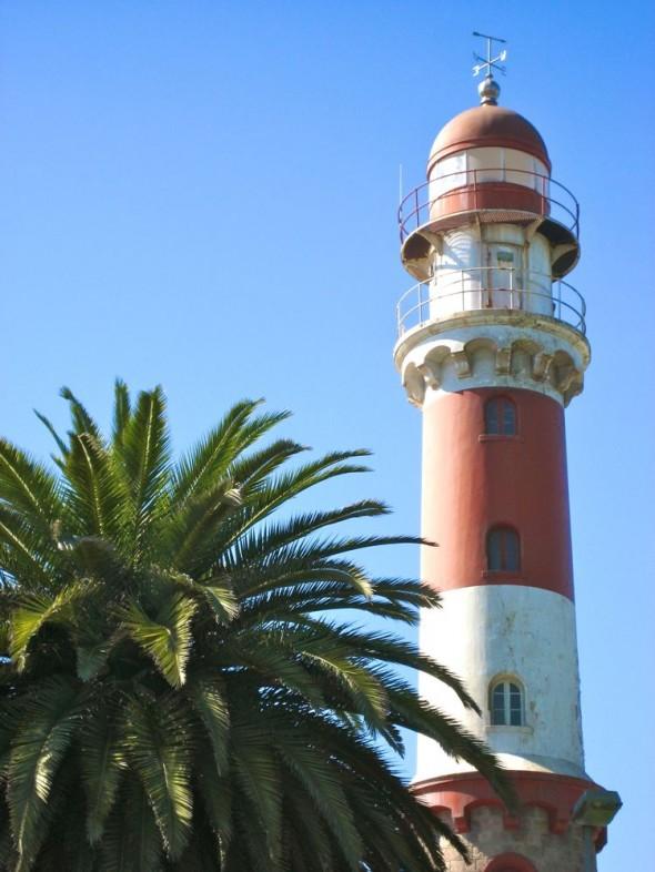 Lighthouse at Swakopmund, Namibia.