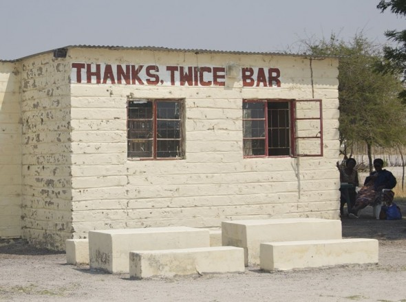 Thanks Twice Bar. Bar / Shebeen on the C46 Highway between Ruacana and Oshakati, Namibia.