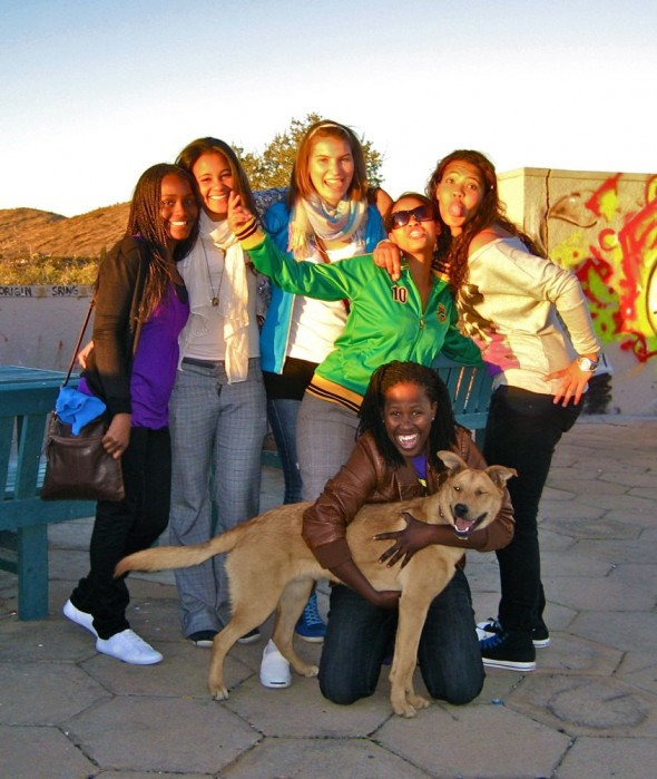 Bow Wow and a group of cool girls we met in Windhoek, Namibia.