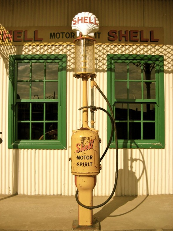 Old petrol pump. Kimberley, South Africa.