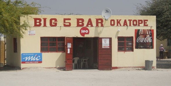 Big 5 Bar Okatope. Bar / Shebeen on the C46 Highway between Ruacana and Oshakati, Namibia.