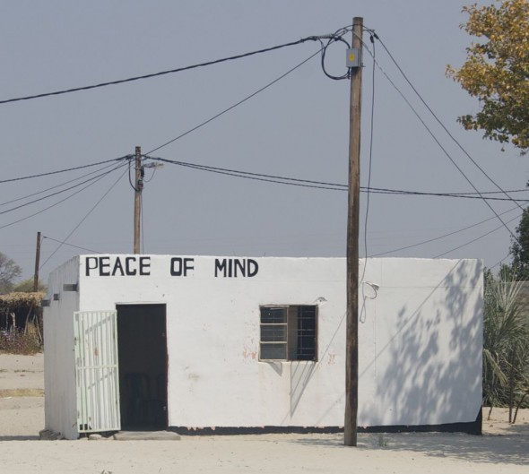 Peace of Mind. Bar / Shebeen on the C46 Highway between Ruacana and Oshakati, Namibia.