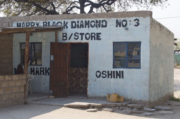 Happy Black Diamond No. 3. Bar / Shebeen on the C46 Highway between Ruacana and Oshakati, Namibia.