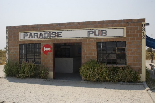 Paradise Pub. Bar / Shebeen on the C46 Highway between Ruacana and Oshakati, Namibia.