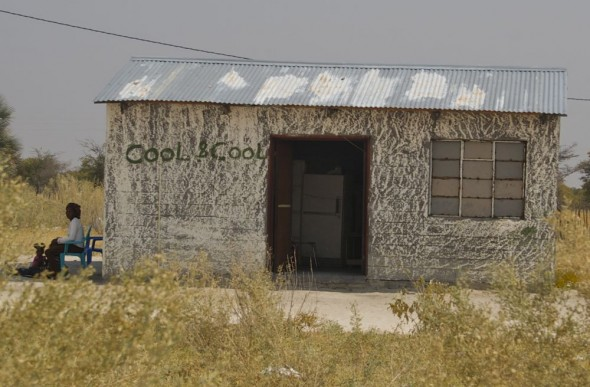 Cool & Cool. Bar / Shebeen on the C46 Highway between Ruacana and Oshakati, Namibia.