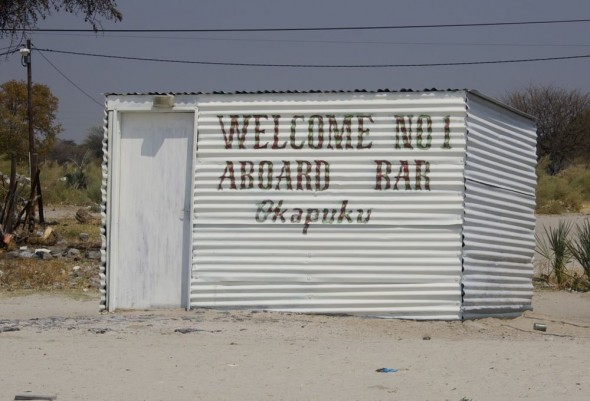 Welcome Aboard Bar No 1 - Okapuku. Bar / Shebeen on the C46 Highway between Ruacana and Oshakati, Namibia.