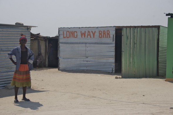 Long Way Bar. Bar / Shebeen on the C46 Highway between Ruacana and Oshakati, Namibia.