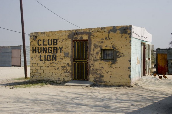 Club Hungry Lion. Bar / Shebeen on the C46 Highway between Ruacana and Oshakati, Namibia.