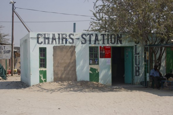 Chairs Station Club. Bar / Shebeen on the C46 Highway between Ruacana and Oshakati, Namibia.