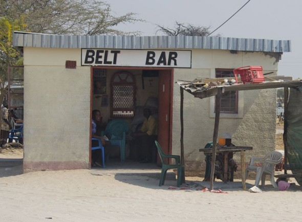 Belt Bar. Bar / Shebeen on the C46 Highway between Ruacana and Oshakati, Namibia.