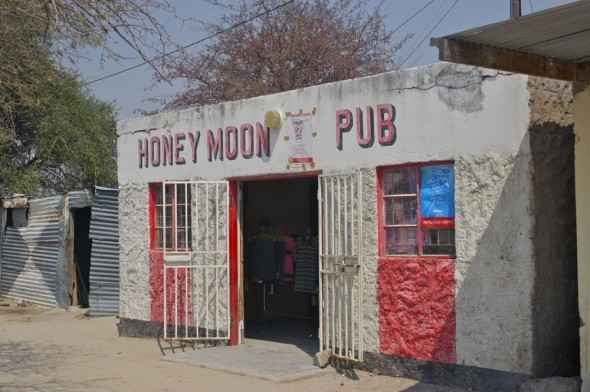 Honey Moon Pub. Bar / Shebeen on the C46 Highway between Ruacana and Oshakati, Namibia.