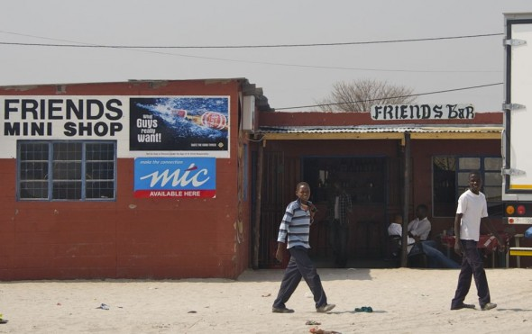 Friends Bar. Bar / Shebeen on the C46 Highway between Ruacana and Oshakati, Namibia.