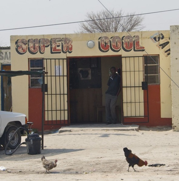 Super Cool. Bar / Shebeen on the C46 Highway between Ruacana and Oshakati, Namibia.