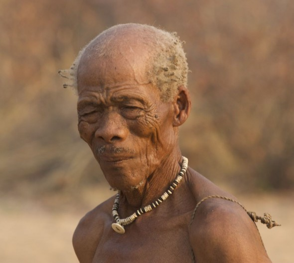 The chief. Ju/'hanse San people, or as they are more commonly known, the Bushmen, near Tsumkwe, eastern Namibia.