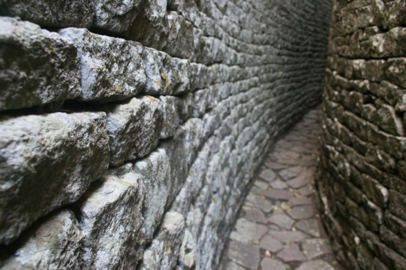 70m Parallel Passage at Great Zimbabwe Ruins.