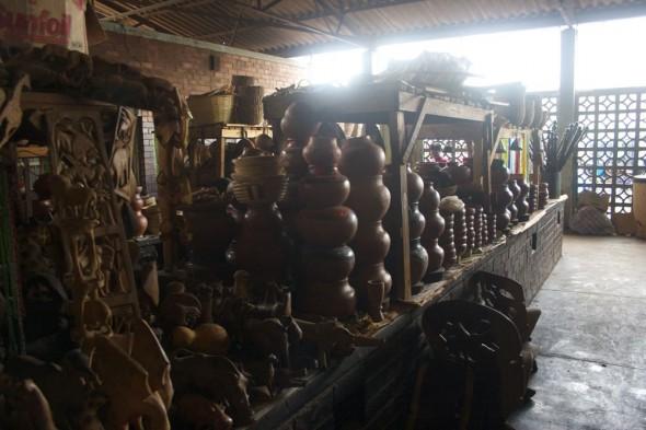 African curios at Harare market, Zimbabwe.
