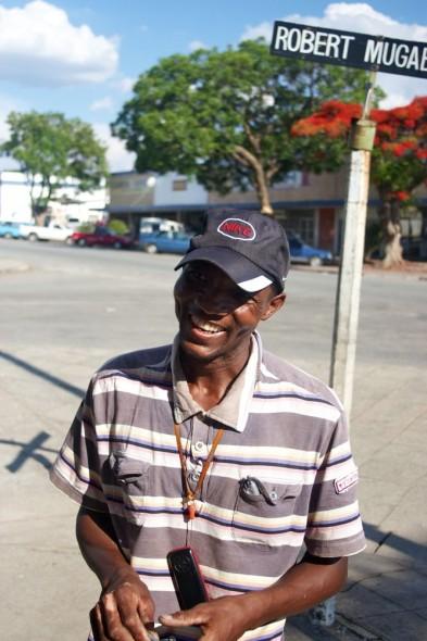 Confidence on Robert Mugabe street, Rusape, Zimbabwe.