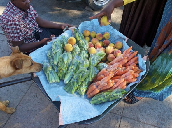 Fruit and veg on the streets of Rusape, Zimbabwe.