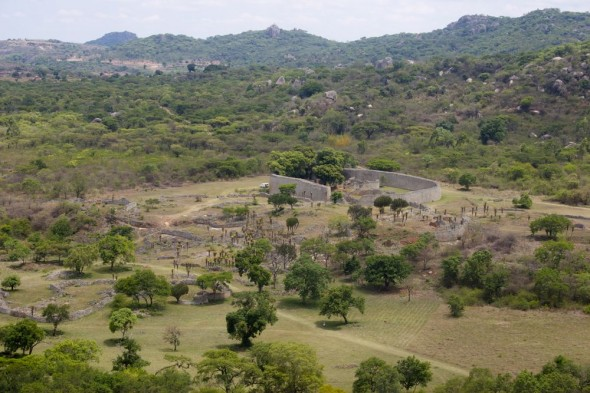 Kings view of the Queens' Residence, Great Zimbabwe Ruins.