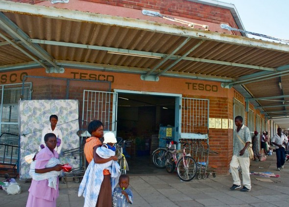 Tesco on the streets of Rusape, Zimbabwe.