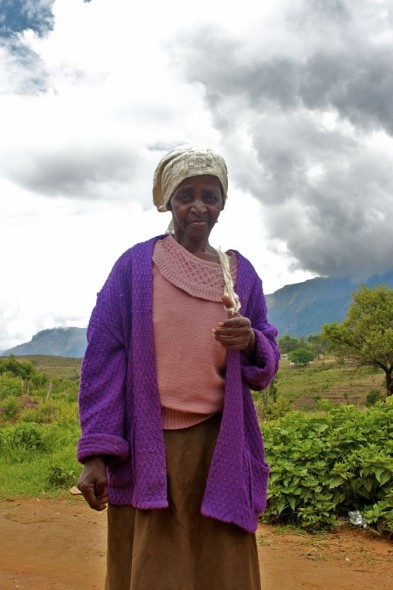 An interesting old lady in Nyanga, Zimbabwe.