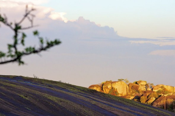 Beautiful view of rocks and sky just outside of Harare, Zimbabwe.
