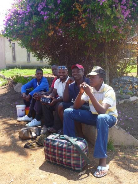 Blessed Welders having a break, Zimbabwe.