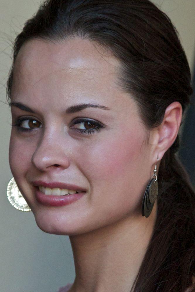 Girl Wearing Bottle Cap Earrings from VagabondVan.com