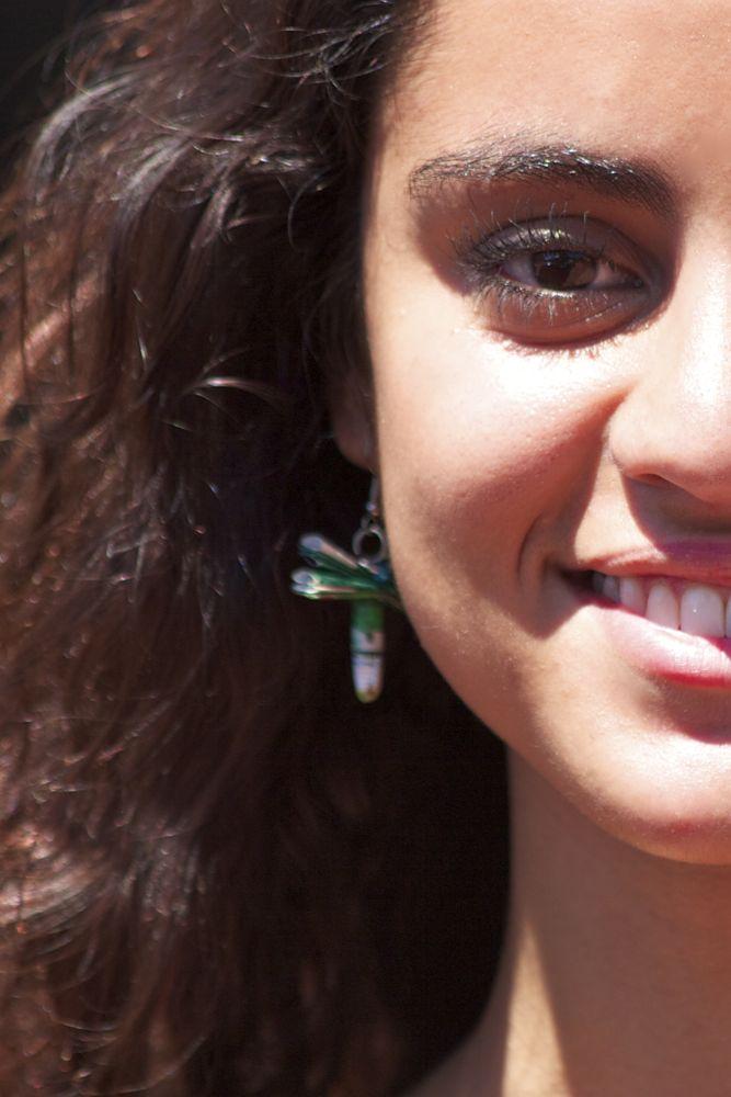Girl Wearing Dragonfly Earrings from VagabondVan.com