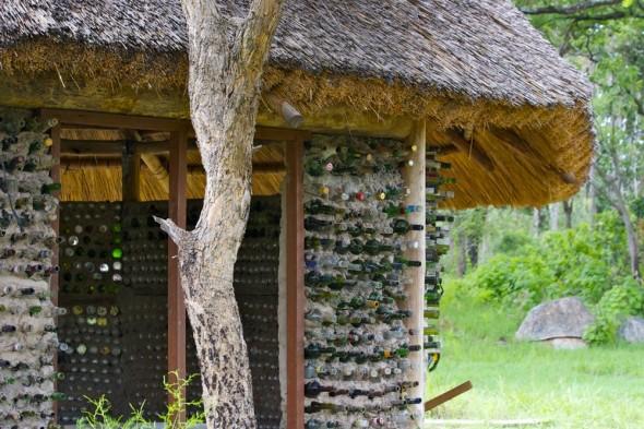 Hut made from bottles, Harare, Zimbabwe