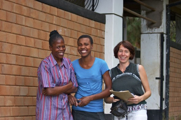 Peta and her workers, Harare, Zimbabwe