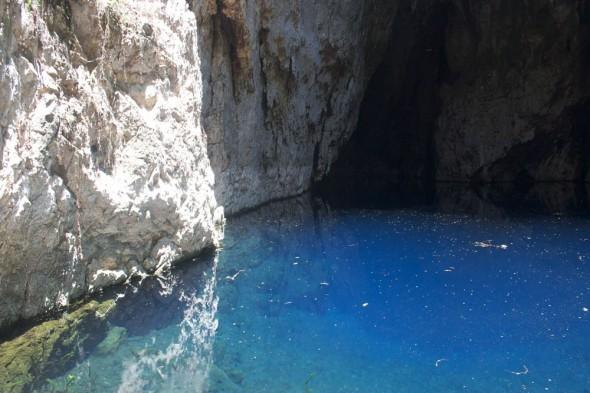 Clear blue Sleeping Pool, Chinhoyi Caves, Zimbabwe.