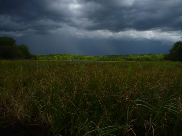Storm approaching over Lake Kariba, Zimbabwe
