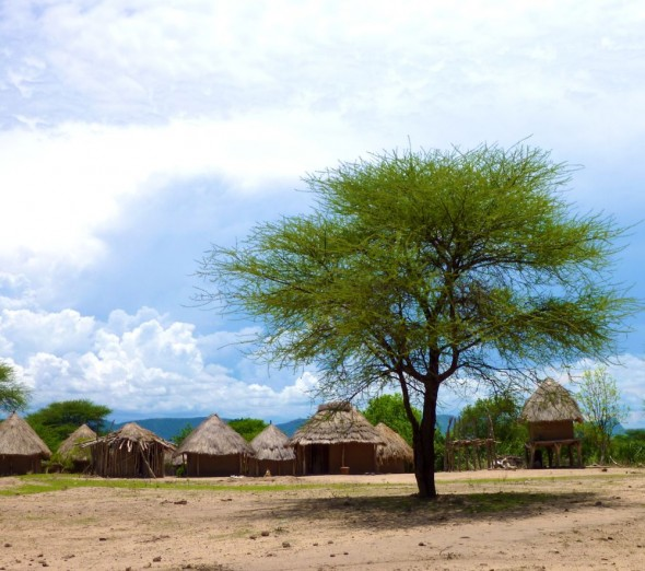 Tonga homestead on the way to Binga, Zimbabwe