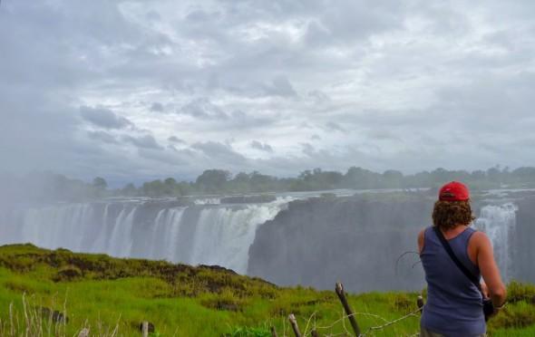 Lachlan watching the Victoria Falls, Zimbabwe