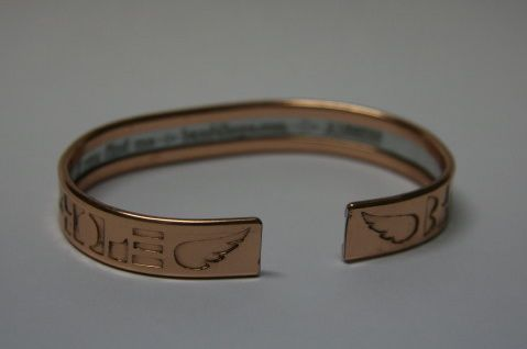 The Band4Hope Band with ID engraved on inside.