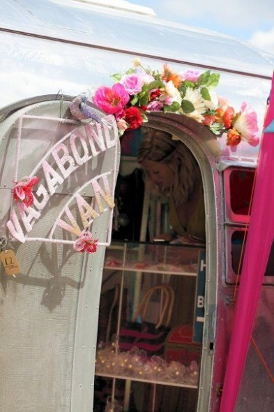Entrance to the Vagabond Van 1952 Airstream