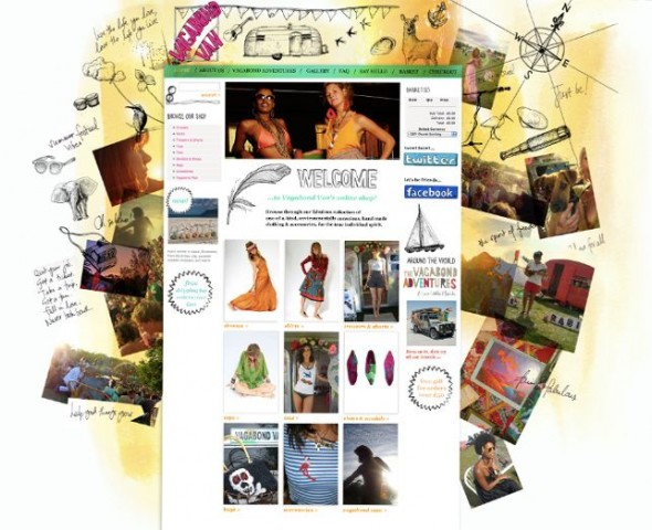Screen shot of VagabondVan.com Website