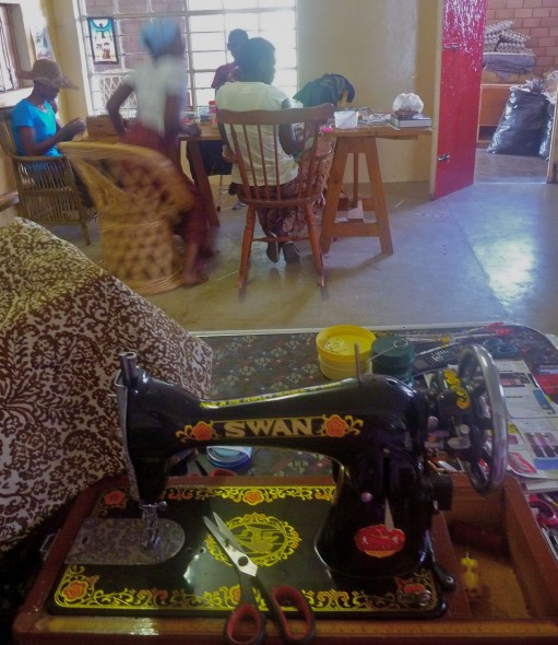 Singer sewing machine at farm in Harare, Zimbabwe