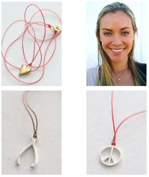 Tiny charm necklaces from South Africa