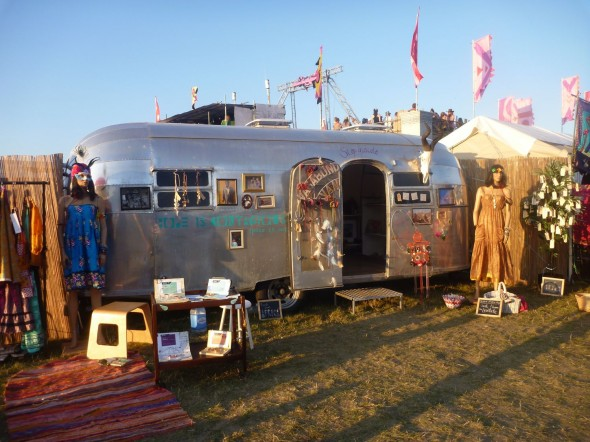 Vagabond Van 1952 Airstream at The Secret Garden Party 2011
