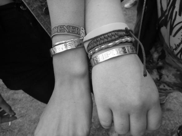 Wearing Band4Hope bands #4Hope