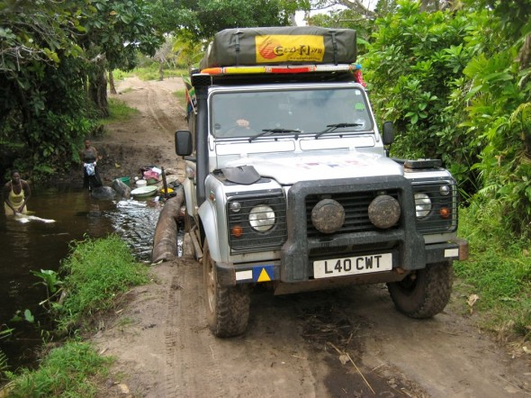 Land Rover Defender 110 River Crossing