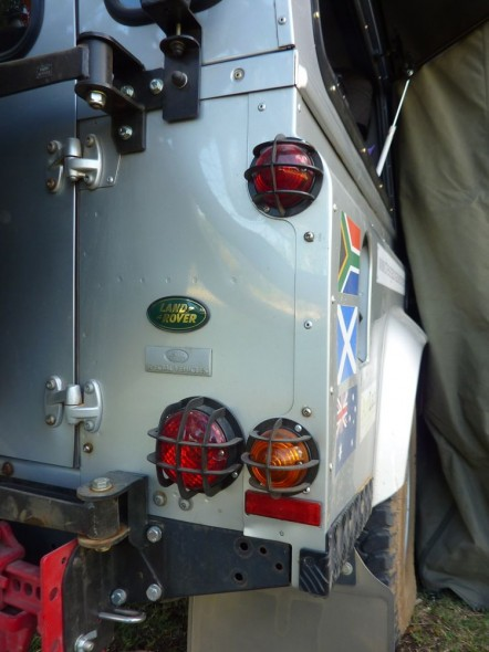 Light protection on Land Rover Defender 110 with Overland Kit